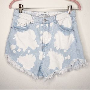 Wild Fable Shorts Denim High Rise Bleached Frayed